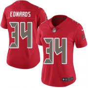 Wholesale Cheap Nike Buccaneers #34 Mike Edwards Red Women's Stitched NFL Limited Rush Jersey