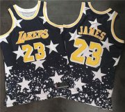 Wholesale Cheap Los Angeles Lakers #23 LeBron James Navy Throwback 1997 4th of July Stitched NBA Jersey