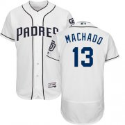 Wholesale Cheap Padres #13 Manny Machado White Flexbase Authentic Collection Stitched MLB Jersey