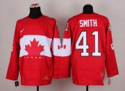 Wholesale Cheap Olympic 2014 CA. #41 Mike Smith Red Stitched NHL Jersey