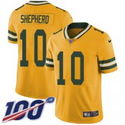 Wholesale Cheap Nike Packers #10 Darrius Shepherd Yellow Youth Stitched NFL Limited Rush 100th Season Jersey
