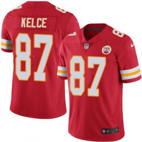 Wholesale Cheap Nike Chiefs #87 Travis Kelce Red Team Color Youth Stitched NFL Vapor Untouchable Limited Jersey
