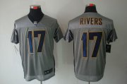 Wholesale Cheap Nike Chargers #17 Philip Rivers Grey Shadow Men's Stitched NFL Elite Jersey