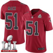 Wholesale Cheap Nike Falcons #51 Alex Mack Red Super Bowl LI 51 Youth Stitched NFL Limited Rush Jersey