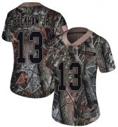 Wholesale Cheap Nike Browns #13 Odell Beckham Jr Camo Women's Stitched NFL Limited Rush Realtree Jersey