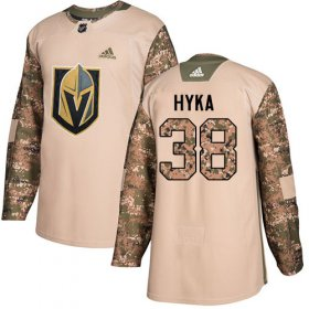 Wholesale Cheap Adidas Golden Knights #38 Tomas Hyka Camo Authentic 2017 Veterans Day Stitched Youth NHL Jersey