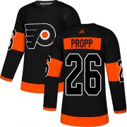 Wholesale Cheap Adidas Flyers #26 Brian Propp Black Alternate Authentic Stitched NHL Jersey