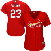 Wholesale Cheap Cardinals #23 Marcell Ozuna Red Alternate Women's Stitched MLB Jersey