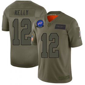 Wholesale Cheap Nike Bills #12 Jim Kelly Camo Youth Stitched NFL Limited 2019 Salute to Service Jersey