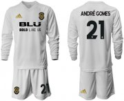 Wholesale Cheap Valencia #21 Andre Gomes Home Long Sleeves Soccer Club Jersey