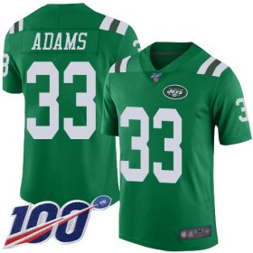 Wholesale Cheap Nike Jets #33 Jamal Adams Green Youth Stitched NFL Limited Rush 100th Season Jersey