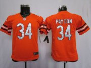 Wholesale Cheap Nike Chicago Bears #34 Walter Payton Orange Toddlers Jersey