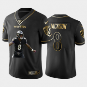 Cheap Baltimore Ravens #8 Lamar Jackson Nike Team Hero 7 Vapor Limited NFL 100 Jersey Black Golden