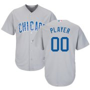 Wholesale Cheap Chicago Cubs Majestic Road Cool Base Custom Jersey Gray