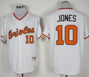 Wholesale Cheap Orioles #10 Adam Jones White 1966 Turn Back The Clock Stitched MLB Jersey