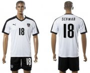 Wholesale Cheap Austria #18 Schwab White Away Soccer Country Jersey