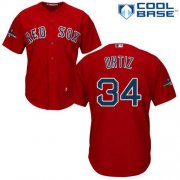 Wholesale Cheap Red Sox #34 David Ortiz Red Cool Base 2018 World Series Stitched Youth MLB Jersey