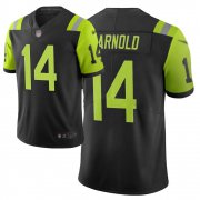 Wholesale Cheap Nike Jets #14 Sam Darnold Black Men's Stitched NFL Limited City Edition Jersey