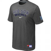Wholesale Cheap Boston Red Sox Nike Short Sleeve Practice MLB T-Shirt Crow Grey