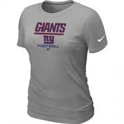 Wholesale Cheap Women's Nike New York Giants Critical Victory NFL T-Shirt Light Grey