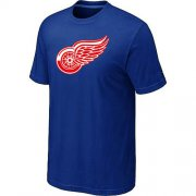 Wholesale Cheap Detroit Red Wings Big & Tall Logo Blue NHL T-Shirt