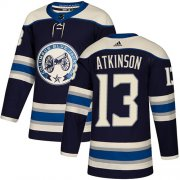 Wholesale Cheap Adidas Blue Jackets #13 Cam Atkinson Navy Alternate Authentic Stitched Youth NHL Jersey