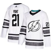 Wholesale Cheap Adidas Lightning #21 Brayden Point White 2019 All-Star Game Parley Authentic Stitched NHL Jersey