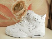 Wholesale Cheap Womens Air Jordan 6(VI) Retro Shoes White