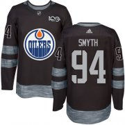Wholesale Cheap Adidas Oilers #94 Ryan Smyth Black 1917-2017 100th Anniversary Stitched NHL Jersey