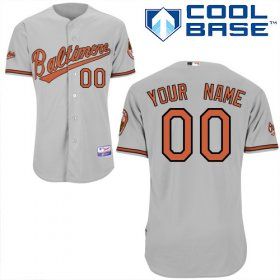 Wholesale Cheap Orioles Personalized Authentic Grey MLB Jersey (S-3XL)