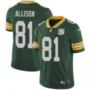 Wholesale Cheap Nike Packers #81 Geronimo Allison Green Team Color Men's 100th Season Stitched NFL Vapor Untouchable Limited Jersey