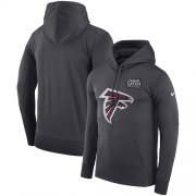 Wholesale Cheap NFL Men's Atlanta Falcons Nike Anthracite Crucial Catch Performance Pullover Hoodie