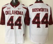 Wholesale Cheap Men's Oklahoma Sooners #44 Brian Bosworth White 2016 College Football Nike Limited Jersey
