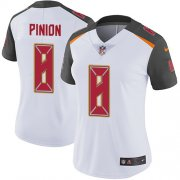 Wholesale Cheap Nike Buccaneers #8 Bradley Pinion White Women's Stitched NFL Vapor Untouchable Limited Jersey