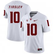 Wholesale Cheap Washington State Cougars 10 Trey Tinsley White College Football Jersey