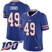 Wholesale Cheap Nike Bills #49 Tremaine Edmunds Royal Blue Team Color Men's Stitched NFL 100th Season Vapor Limited Jersey