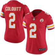 Wholesale Cheap Nike Chiefs #2 Dustin Colquitt Red Team Color Women's Stitched NFL Vapor Untouchable Limited Jersey