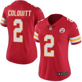 Wholesale Cheap Nike Chiefs #2 Dustin Colquitt Red Team Color Women\'s Stitched NFL Vapor Untouchable Limited Jersey