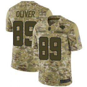Wholesale Cheap Nike Jaguars #89 Josh Oliver Camo Men\'s Stitched NFL Limited 2018 Salute To Service Jersey