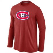 Wholesale Cheap NHL Montreal Canadiens Big & Tall Logo Long Sleeve T-Shirt Red