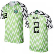 Wholesale Cheap Nigeria #2 Idowu Home Soccer Country Jersey