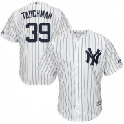 Wholesale Cheap Yankees #39 Mike Tauchman White Strip New Cool Base Stitched Youth MLB Jersey