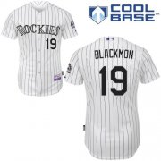 Wholesale Cheap Rockies #19 Charlie Blackmon White Cool Base Stitched Youth MLB Jersey