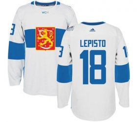 Wholesale Cheap Team Finland #18 Sami Lepisto White 2016 World Cup Stitched NHL Jersey