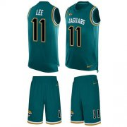 Wholesale Cheap Nike Jaguars #11 Marqise Lee Teal Green Alternate Men's Stitched NFL Limited Tank Top Suit Jersey