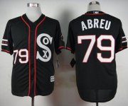 Wholesale Cheap White Sox #79 Jose Abreu Black New Cool Base Stitched MLB Jersey
