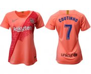 Wholesale Cheap Women's Barcelona #7 Coutinho Third Soccer Club Jersey