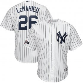 Wholesale Cheap New York Yankees #26 DJ LeMahieu Majestic 2019 Postseason Official Cool Base Player Jersey White Navy
