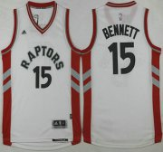 Wholesale Cheap Men's Toronto Raptors #15 Anthony Bennett Revolution 30 Swingman 2015-16 New White Jersey