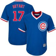 Wholesale Cheap Cubs #17 Kris Bryant Blue Cooperstown Stitched Youth MLB Jersey